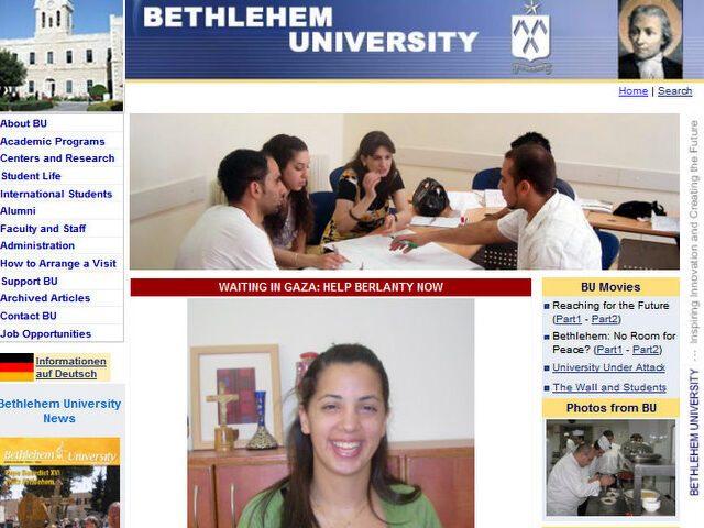 Una studentessa deportata a Gaza
