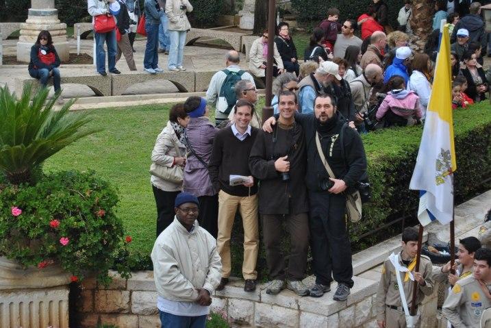 Il team a Nazaret: Annunciazione e inaugurazioni