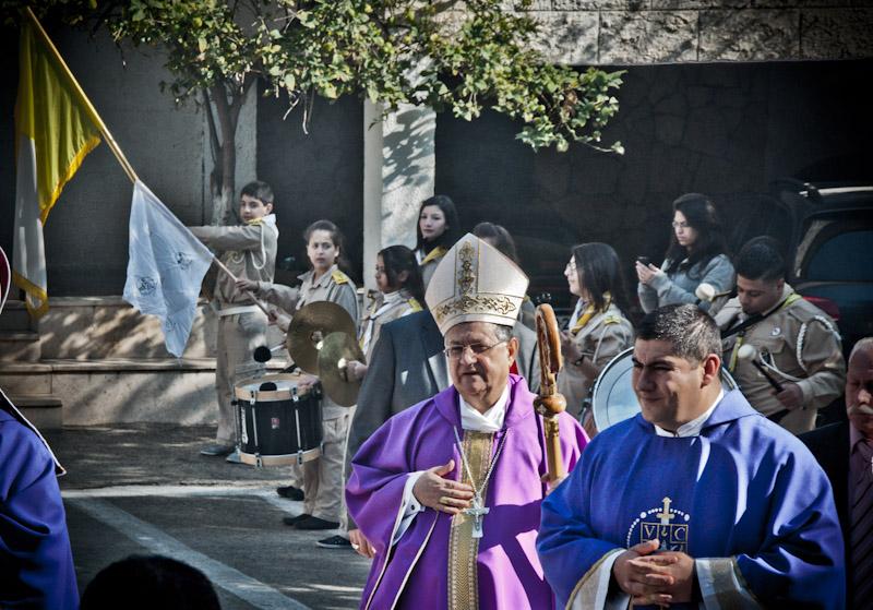 Gaza: la festa in parrocchia con il Patriarca