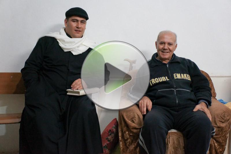 Le visite natalizie agli anziani di Gaza