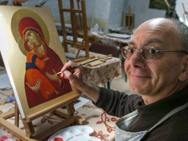 Gabriele iconografo a Gerusalemme