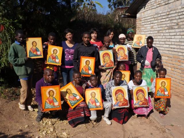 Il corso di icone a Mapanda 2013