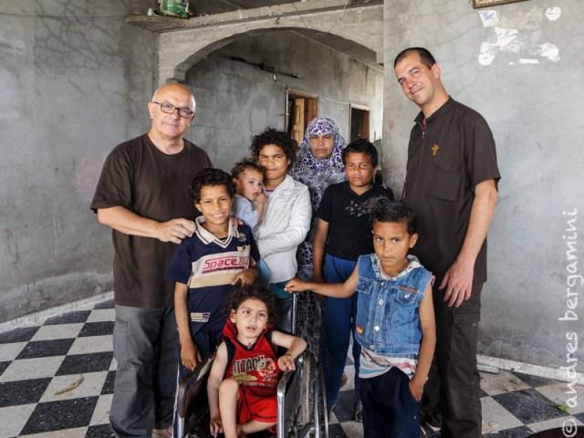 Quattro famiglie dei campi profughi di Gaza