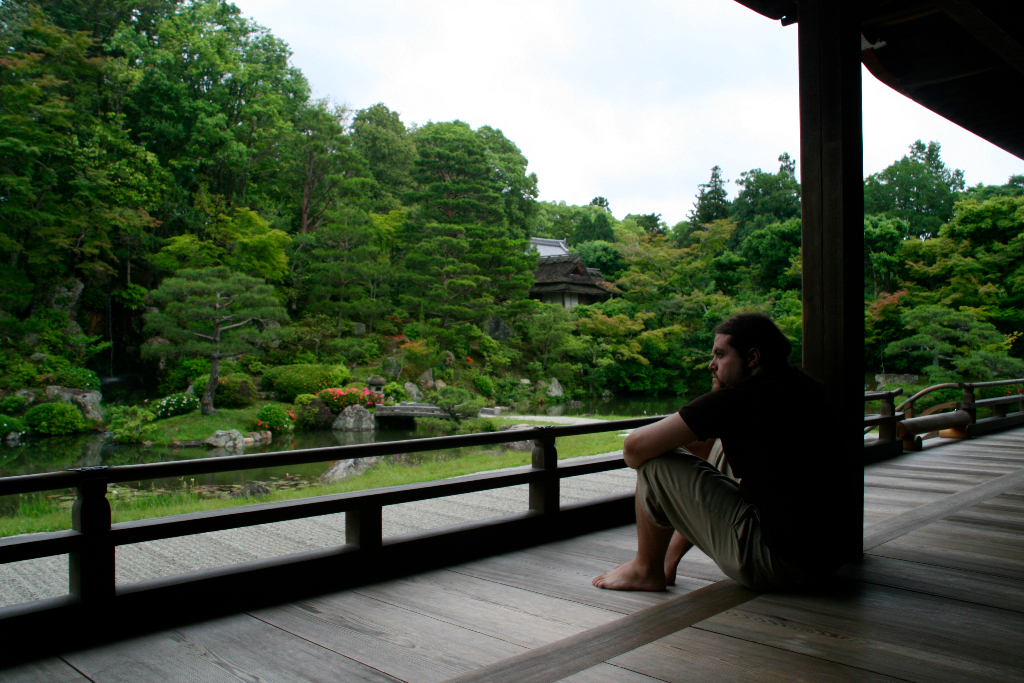 Tranquility moment viewing zen gardens