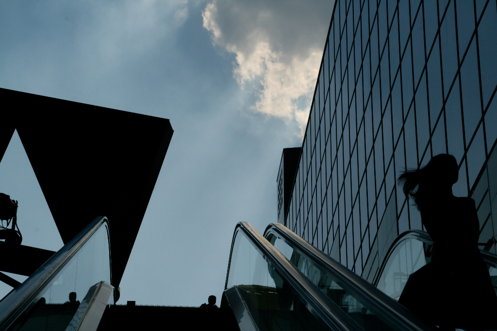 Steel and Glass contrast at Kyoto train station