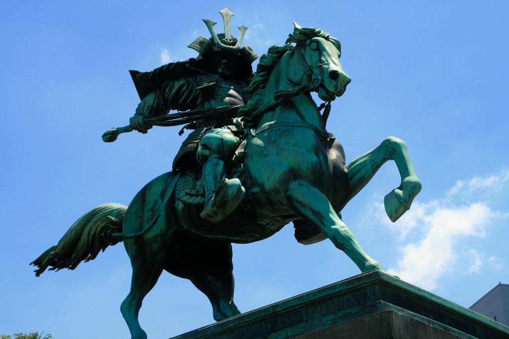 Samurai on horseback