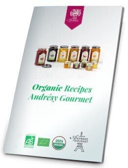 Organic recipes Andrésy Gourmet catalog