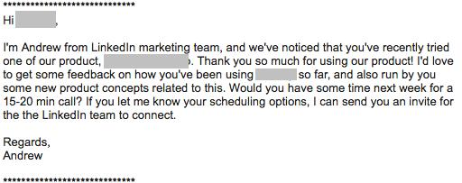 customer feedback invitation