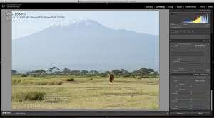 Lightroom Dehaze Amboseli Kilimanjaro