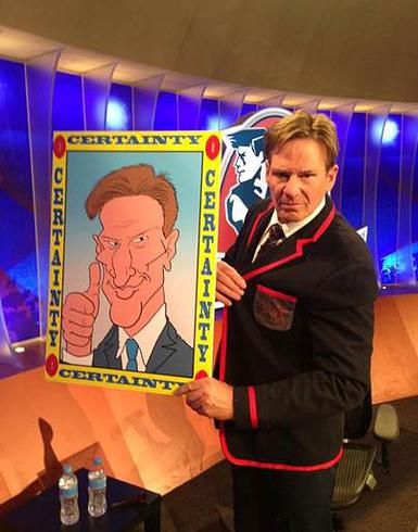 Cartoonist, Andrew Fyfe, Andrew Fyfe cartoon, Sam Newman, Sam Newman cartoon, Sam Newman caricature