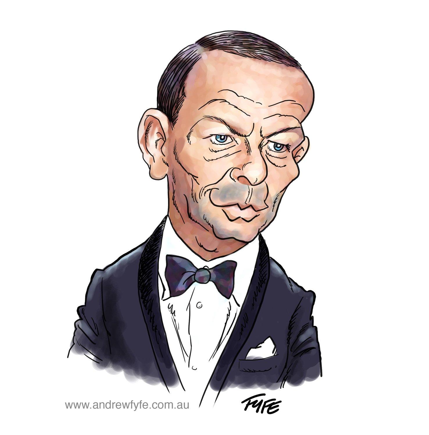 Frank Sinatra, Frank Sinatra caricature, Andrew Fyfe, caricatures