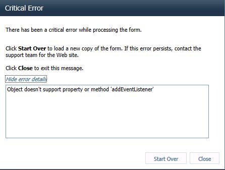 InfoPath Error