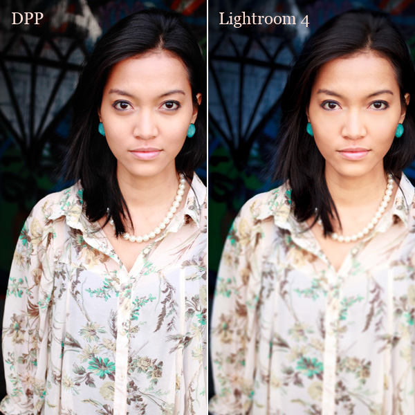 Comparing DPP with Lightroom 4