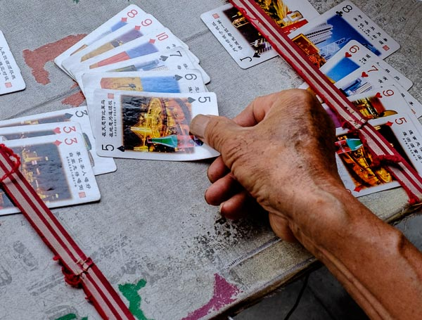 Playing cards at Temple of Heaven, Beijing, China