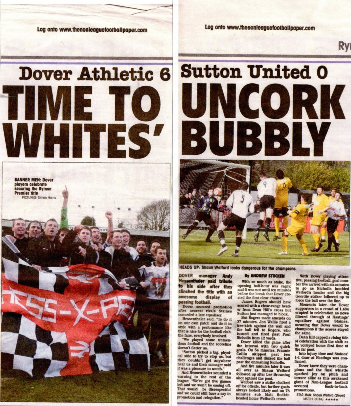 From the Non-League Paper, 29 March 2009