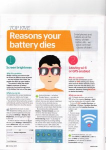 Which? Computing Magazine December 2016 - Ways to Increase Your battery Life