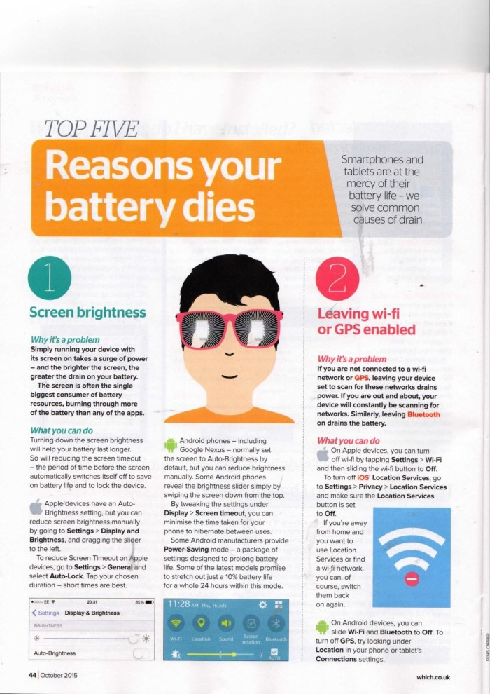 "Which? Computing Magazine? ""Top 5 Reasons your Phone Battery Dies"""