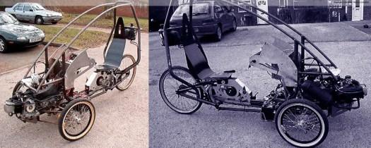 Hybrid tilting trike