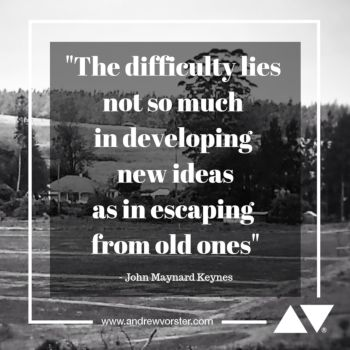 Escaping old ideas