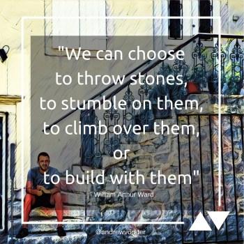Quote - Throw Stones