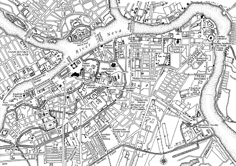 A revolutionary map of St Petersburg