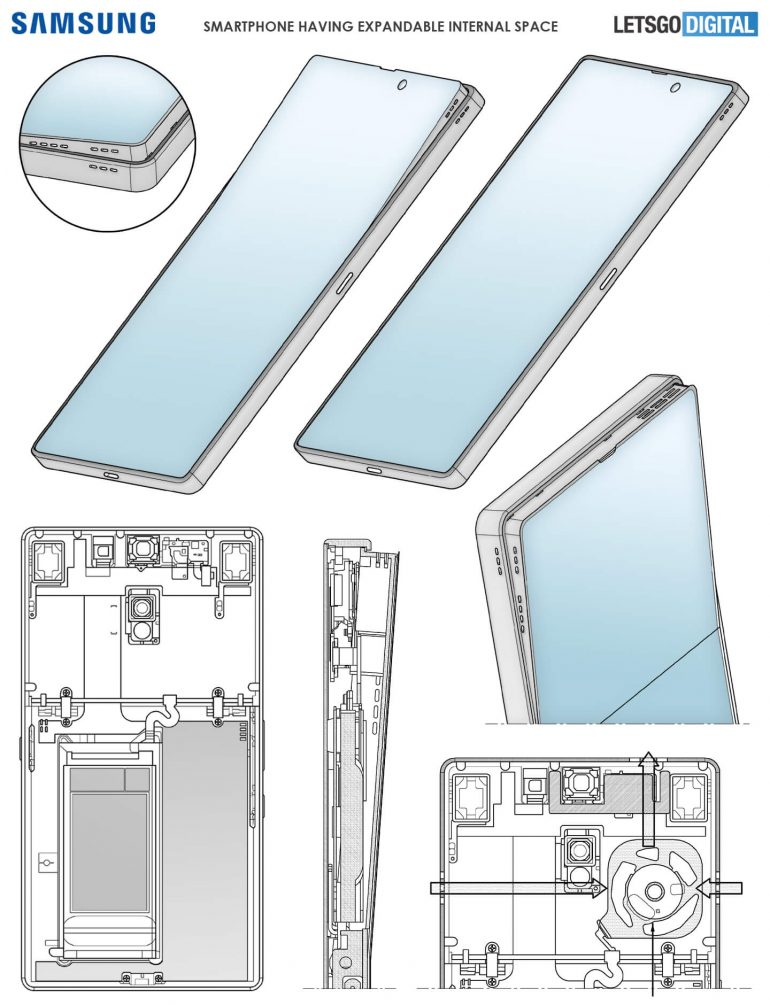 samsung patente panel emergente