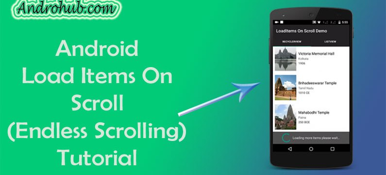 Load Items On Scroll (Endless Scrolling) - Androhub