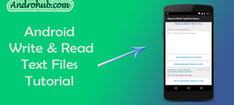Android Read Write File Operations - Androhub