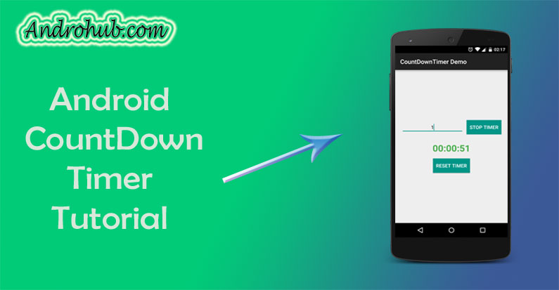 count down timer in android androhubCountdowntimer #17
