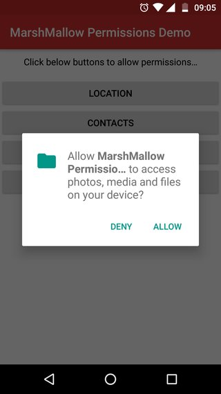 Marshmallow Permission