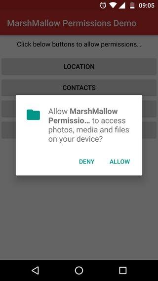 Marshmallow Permission