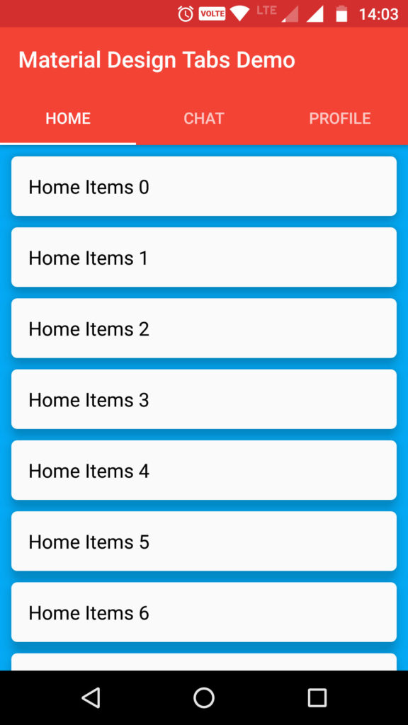 Android Material Design working with Tabs (Advanced) - Androhub