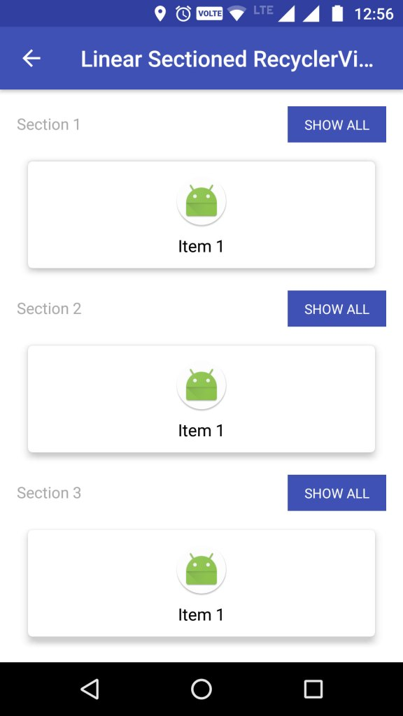 Horizontal Sectioned RecyclerView