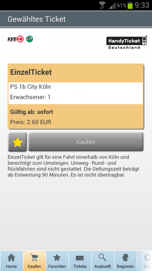 HandyTicket Deutschland