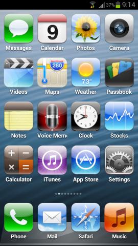 Fake iPhone 5 mit 4 Reihen