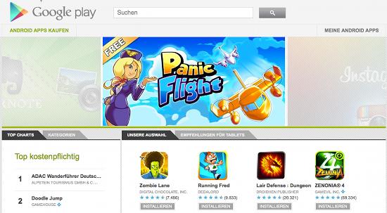 Andorid-Apps im Play Store von Google