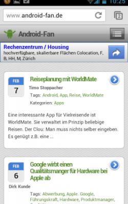 Diese Webseite in Google Chrome