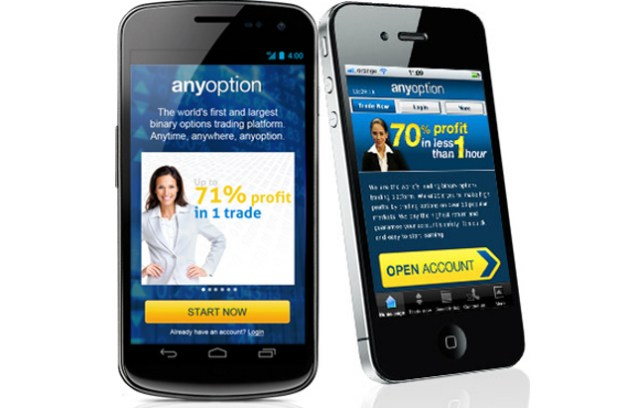 Anyoption App für Android