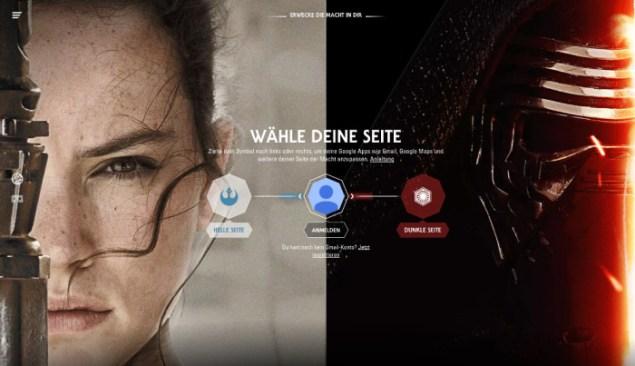 Star Wars: Für eine Seite entscheiden