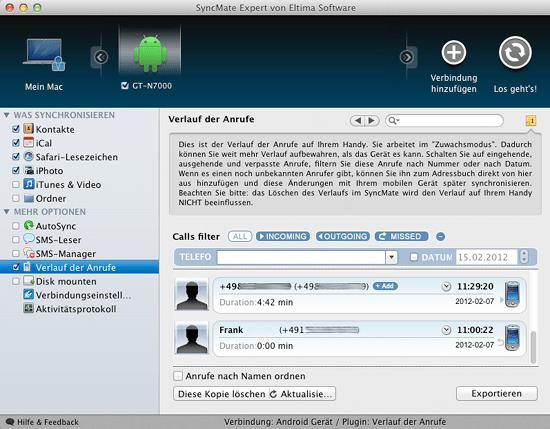 Der Syncmate Expert von Eltima für den Mac