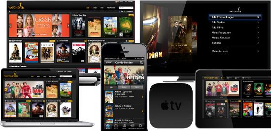 Watchever bietet Serien am laufenden Band (c) Apple, LG, Watchever