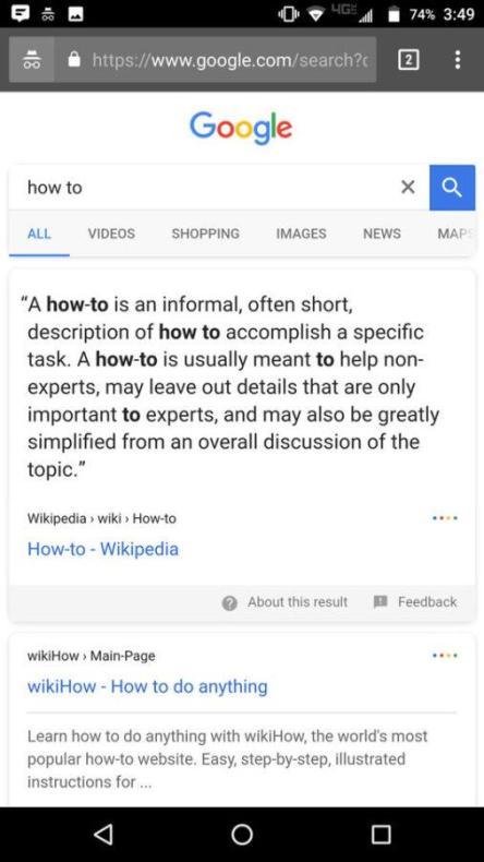 google ricerca mobile