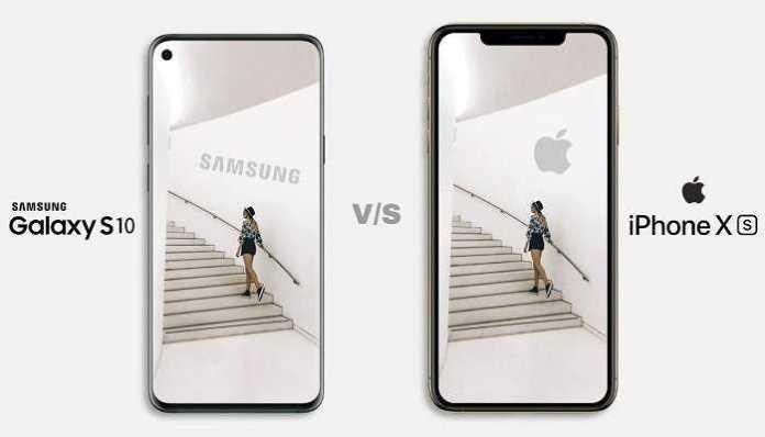 differenze samsung s10 iphone xs