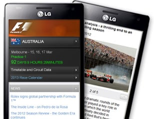 F1 2014 : l'application ANDROID