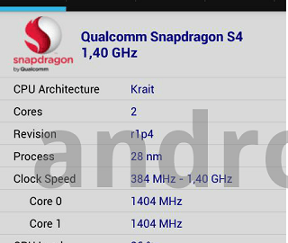 Snapdragon 400 Dual core