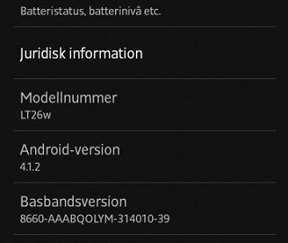 Download 6.2.B.1.96 for Xperia S, SL, and acro S