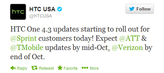 HTC One receives Android 4.3