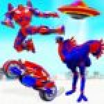 Flying Ostrich Robot Transform Bike Robot Games .APK MOD Unlimited money Download for android