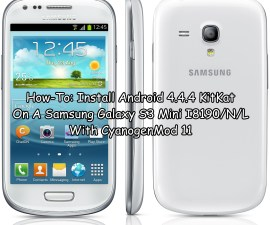 Android 4.4.4 KitKat On A Samsung Galaxy S3 Mini