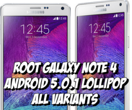 Get Root On Your Galaxy Note 4 That Runs Android 5.0.1